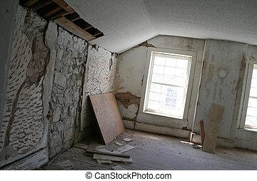 demolição, sala