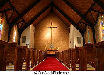 dentro, igreja
