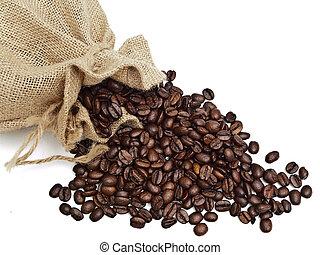 derramado, saco, coffe