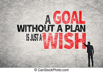 desejo, sem, meta, apenas, plano