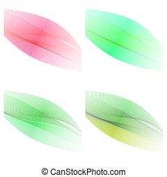 desenho, -, abstratos, elementos, jogo, wav, cor onda, 4, elegante
