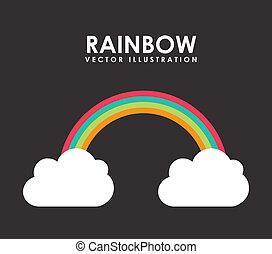 desenho, arco íris