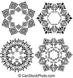 desenho, branca, elemento, ver, (black