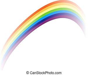 desenho, coloridos, arco íris, elemento