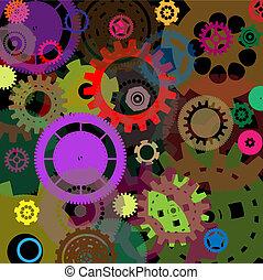 desenho, industrial, fundo, coloridos