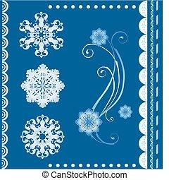 desenho, inverno, elementos, jogo