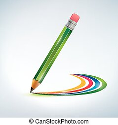 desenho lápis, arco íris