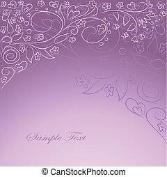 desenho, oarnate, fundo, lilás, mão