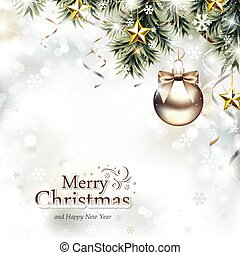 desenho, ornamentos natal