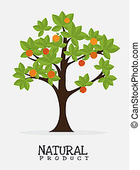 desenho, produto, natural