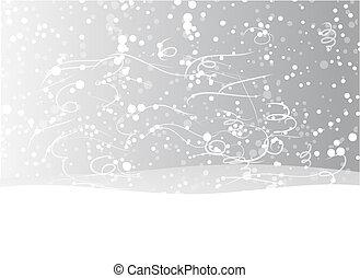 desenho, seu, fundo, natal