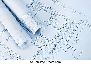 desenhos técnicos, construção, plano