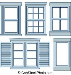 desenhos técnicos, janela