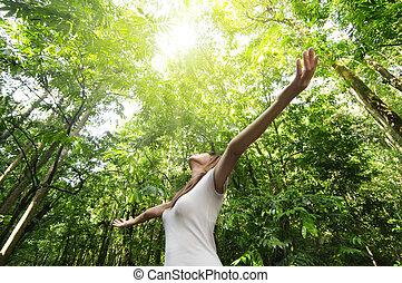desfrutando, natureza