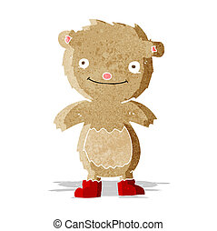 desgastar, urso, caricatura, botas, pelúcia