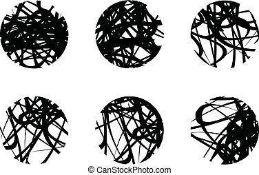 design., ilustração, modelo, abstratos, 10., eps, jogo, vetorial, círculo, grunge