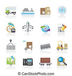 despacho, logística, ícones