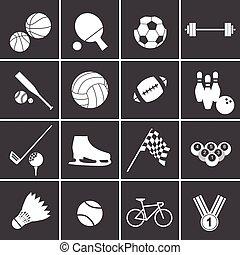 desporto, jogo, ícone