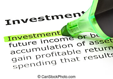 destacado, verde, 'investment'