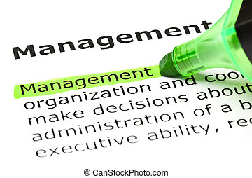 destacado, verde, 'management'