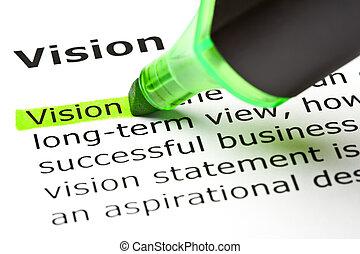 destacado, verde, 'vision'