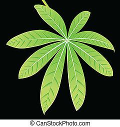 detalhado, abstrato verde, folha