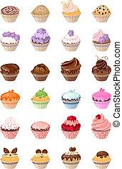 detalhado, diferente, aniversário, det, bolos