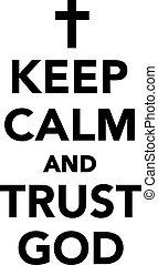 deus, confiança, pacata, mantenha
