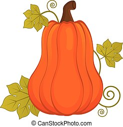 dia das bruxas, abóbora, vetorial, laranja, leaves.