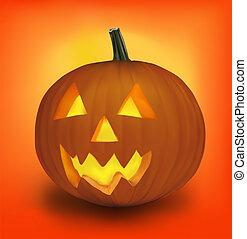 dia das bruxas, vector., pumpkin.
