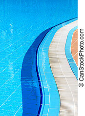 dia ensolarado, piscina
