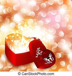 dia, fundo, valentine