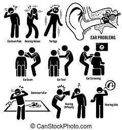 diagnóstico, orelha