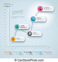 diagrama, 3d, business., infographics