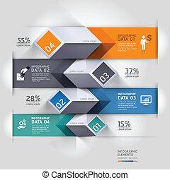 diagrama, abstratos, infographics., 3d
