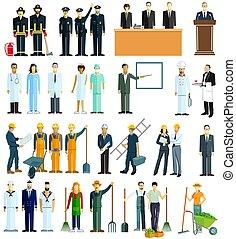 diferente, grupo, pessoas, professions.eps
