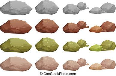 diferente, pedras