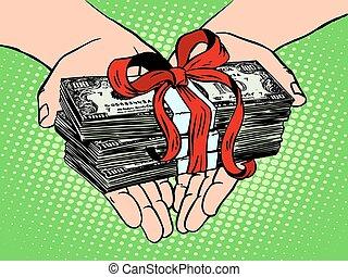 dinheiro, financeiro, gift., renda