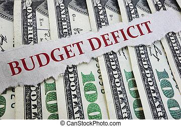 dinheiro, orçamento, jornal, deficit, manchete