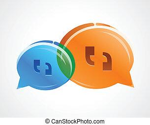 discussão, bolhas, conversa