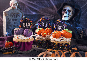 doces, partido halloween