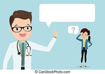 doente, doutor, bolha, feliz, executiva, macho, cansadas, caucasiano, fala, branca