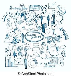 doodle, jogo, negócio