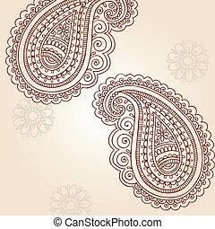 doodles, paisley, vetorial, henna