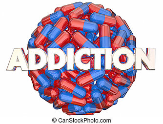 dor, abuso, assassinos, ilustração, medicina, prescrição, vício, 3d
