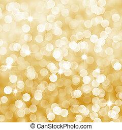 dourado, abstratos, fundo