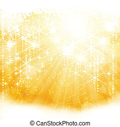 dourado, estouro, luz, abstratos, cintilante, luzes, estrelas, blurry
