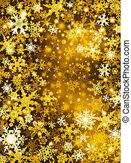 dourado, neve, fundo