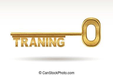 dourado, treinamento, -, tecla