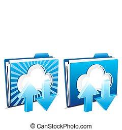 download, upload, nuvem, computando